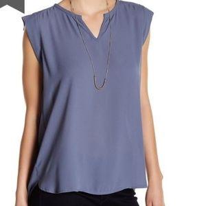 Pleione Split Neck Pleated back blouse